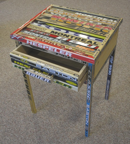 Custom Hockey Stick Furniture Hockey Stick End Table